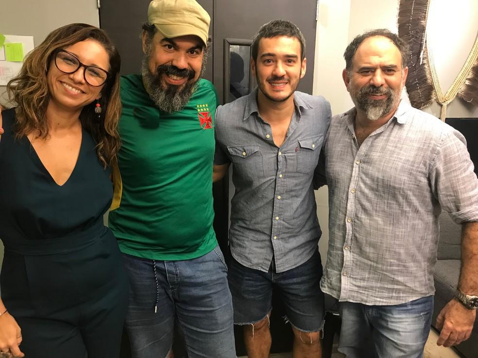 Tatá Lopes, Cacofonias, Marcos Veras e Celso Taddei no podcast Zorra