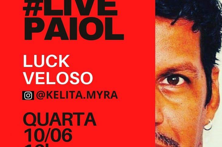 Luck Veloso na live com Kélita Myra