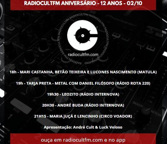 Radiocultfm 12 anos!